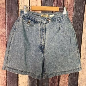 """Vintage High-Waisted High-Rise Mom Jean Shorts 25"""""""